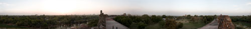 Skyline from Old Fort in Delhi